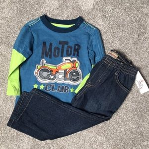 NWT Boys Toddler Clothes Jeans and Shirt